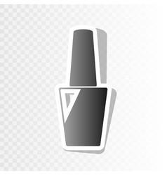 nail polish sign new year blackish icon vector image vector image