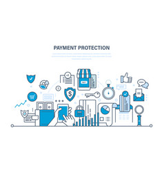 Protection guarantee payment security finance vector