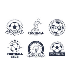 set of football club graphic icons flat design vector image vector image