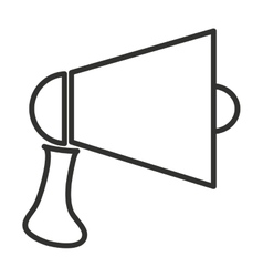 black and white megaphone graphic vector image vector image