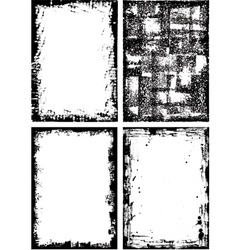 collection of high detail grunge frames and elemen vector image vector image