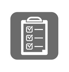 customer service icon with checklist sign vector image vector image