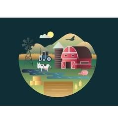 Farm concept flat design vector image vector image