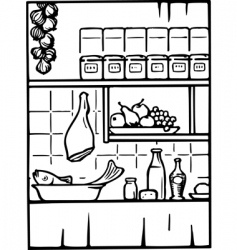 food and drink in the kitchen vector image vector image