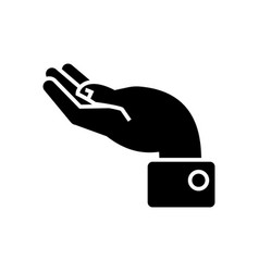hand support icon black sign vector image
