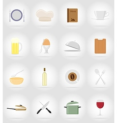 objects for food flat icons 17 vector image vector image