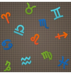 Dark Seamless Texture Signs of The Zodiac vector image vector image