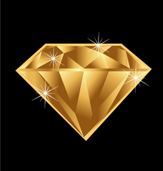 Gold diamond vector
