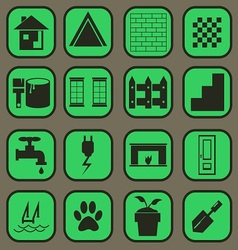 home icon basic style vector image vector image