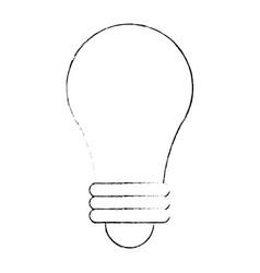 sketch bulb light idea icon vector image