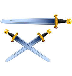 sword viking cartoon vector image vector image