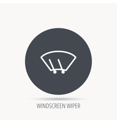 Windscreen wipers icon windshield sign vector