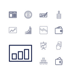 13 financial icons vector