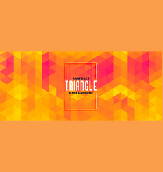abstract yellow triangle pattern stylish banner vector image