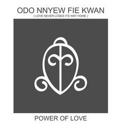 Adinkra symbol odo nnyew fie kwan vector