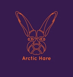 Arctic Hare Icon vector