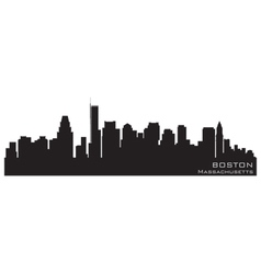 boston skyline silhouette vector images 79 rh vectorstock com  boston skyline silhouette vector