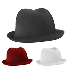 Bowler hats set template vector
