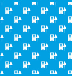 brick and trowel pattern seamless blue vector image
