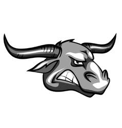 Bull mascot team label design vector image
