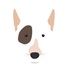 bull terrier dog cartoon vector image