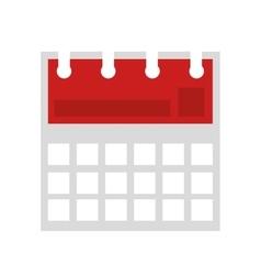 calendar reminder flat line icon vector image