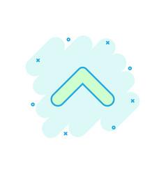 cartoon arrow icon in comic style arrow sign vector image