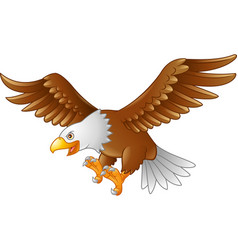 Cartoon eagle flying vector