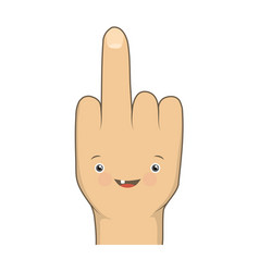 Cartoon funny middle finger vector