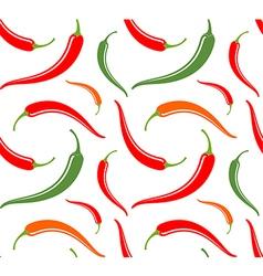 Chili pepper Seamless pattern vector