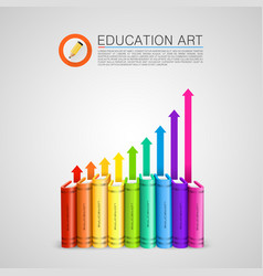 colored books with the arrows vector image