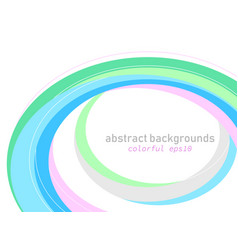 colorful curved scene on a white vector image