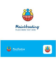 creative group avatar logo design flat color logo vector image