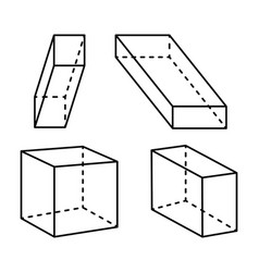 Cubes and cuboid collection vector