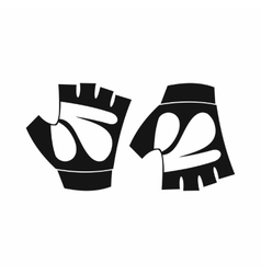 Cycling gloves icon simple style vector
