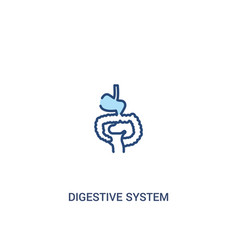 Digestive system concept 2 colored icon simple vector