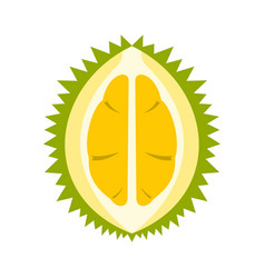 durian icon flat style vector image