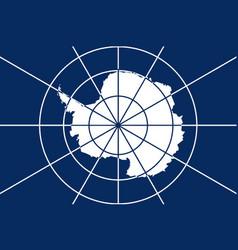 Flag of antarctica vector