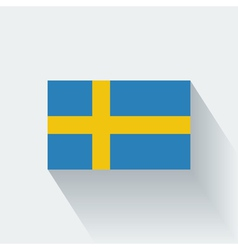 Flat flag of Sweden vector image