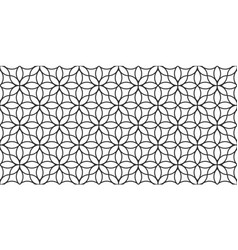 Floral linear monochrome seamless pattern vector