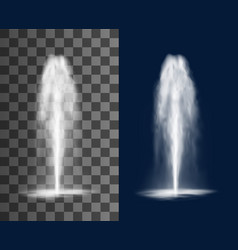 fountain cascade vertical water jets and splashes vector image
