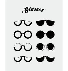 Glasses vector image