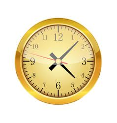 gold glossy clock vector image