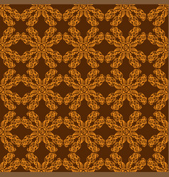 Golden ornament on brown background vector