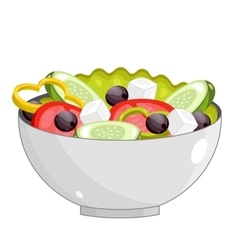Greek salad with fresh vegetables vector