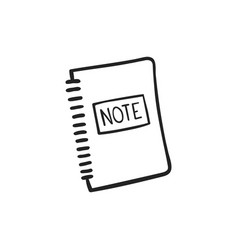 Hand drawn icon note pad vector