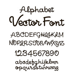 Handwritten alphabet letters abc for your vector