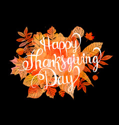 Happy thanksgiving day poster vector
