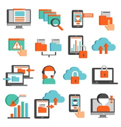 Information Technologies Flat Icons Set vector