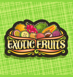 Logo for exotic fruits vector